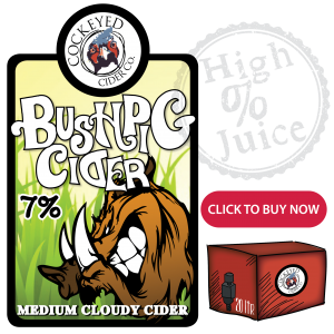 Bush Pig Medium Cloudy Cider - Apple Cider